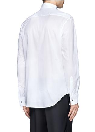 Back View - Click To Enlarge - Armani Collezioni - Pinwale bib tuxedo shirt