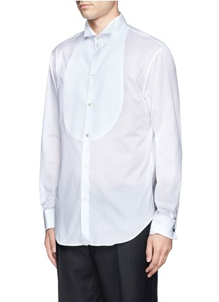 Armani Collezioni-Pinwale bib tuxedo shirt