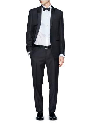 Figure View - Click To Enlarge - Armani Collezioni - Pinwale bib tuxedo shirt