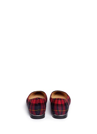 Back View - Click To Enlarge - Pedder Red - Tartan plaid flats