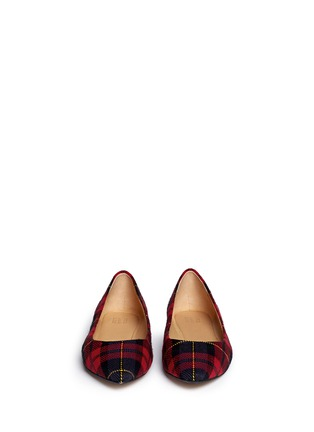 Figure View - Click To Enlarge - Pedder Red - Tartan plaid flats