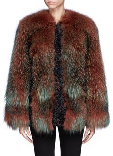 HOCKLEY'Osprey' raccoon and kalgam lamb fur coat