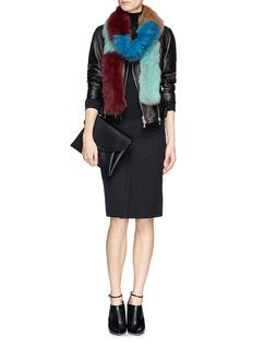 HOCKLEY'Kiwi' long boa fox scarf