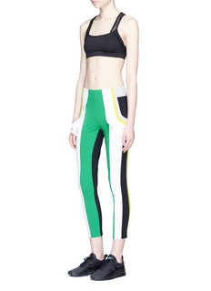 No Ka'Oi 'Kina' ruffle colourblock performance leggings