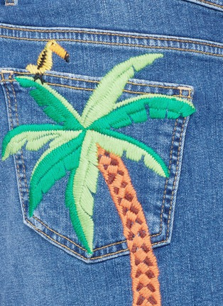 Detail View - Click To Enlarge - Mira Mikati - 'Rainforest' embroidered denim shorts