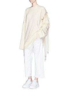 FENTY PUMA by Rihanna Shoelace tie sleeve oversized fleece sweatshirt