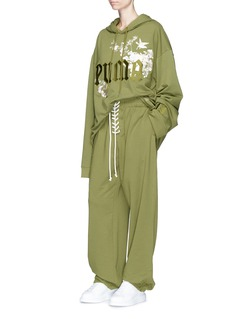 FENTY PUMA by Rihanna Lace-up fleece jersey sweatpants