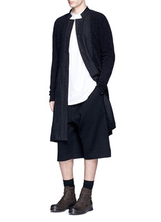Uma Wang  Pinstripe panel long coat