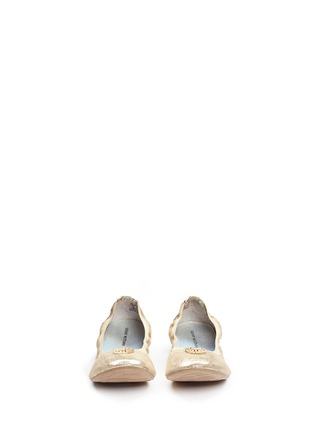 Figure View - Click To Enlarge - Stuart Weitzman - 'Rose' logo glitter kids ballet flats