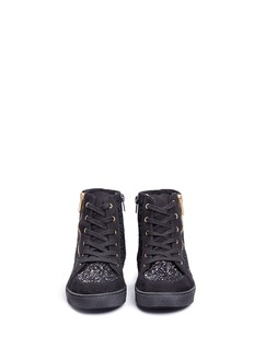 Sam Edelman 'Britt Roxy' glitter kids high-top sneakers