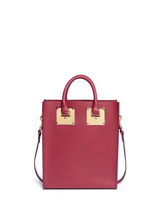 Detail View - Click To Enlarge - Sophie Hulme - 'Albion' mini rectangle leather box tote