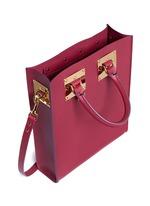 'Albion' mini rectangle leather box tote
