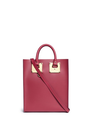 Main View - Click To Enlarge - Sophie Hulme - 'Albion' mini rectangle leather box tote