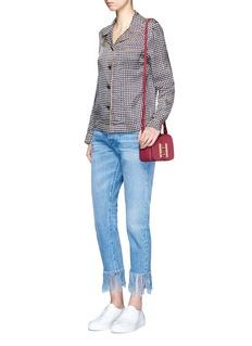 Sophie Hulme'Darwin' saddle leather crossbody bag
