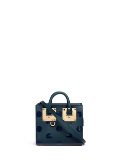 Sophie Hulme 'Albion' polka dot print leather box tote