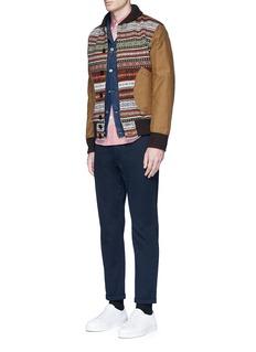Comme Des Garçons HommeFair Isle intarsia moleskin sleeve jacket