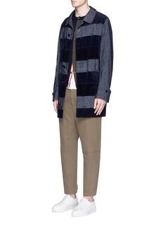 Comme Des Garçons HommeCorduroy and velveteen patchwork coat