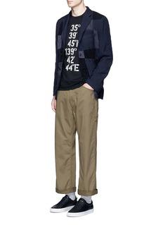 Comme Des Garçons HommePatchwork front soft blazer