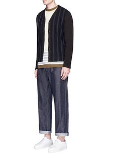 Comme Des Garçons HommeGarment dyed mottled twill pants