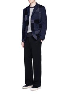 Comme Des Garçons HommePatchwork knit sweatshirt