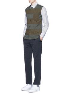 Comme Des Garçons HommePatchwork front stripe shirt