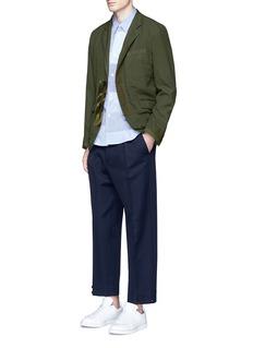 Comme Des Garçons HommeCamouflage print patchwork twill blazer