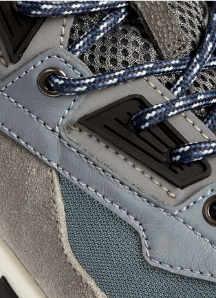 Detail View - Click To Enlarge - Lanvin - Mixed media running sneakers