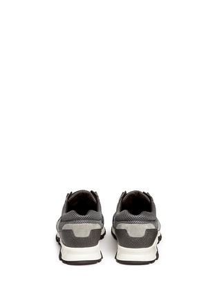 Back View - Click To Enlarge - Lanvin - Mixed media running sneakers