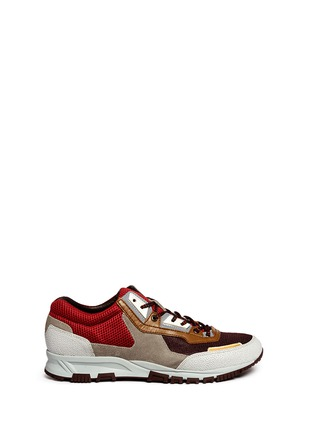 Main View - Click To Enlarge - Lanvin - Mixed media running sneakers