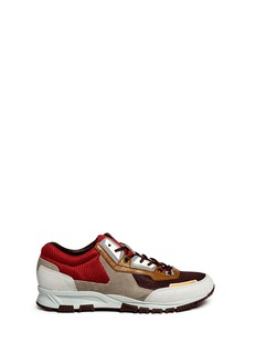 Lanvin Mixed media running sneakers