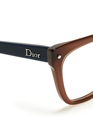 Detail View - Click To Enlarge - Dior - Colourblock cat eye optical glasses
