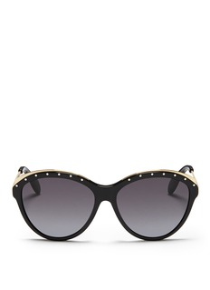 ALEXANDER MCQUEENStud browbar cat eye sunglasses