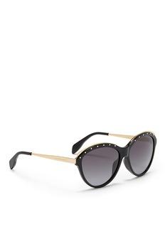 ALEXANDER MCQUEENStud brow bar cat eye sunglasses