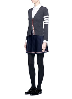 Thom BrowneCavalry twill pleated skirt