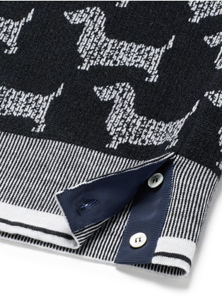 Detail View - Click To Enlarge - Thom Browne - 'Hector' intarsia wool-cashmere shell top