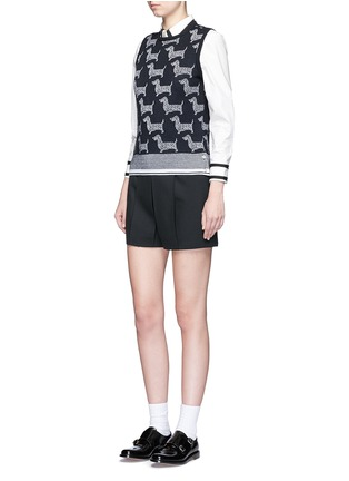 Figure View - Click To Enlarge - Thom Browne - 'Hector' intarsia wool-cashmere shell top