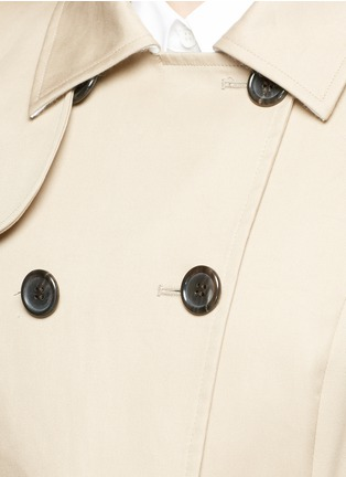 Detail View - Click To Enlarge - Thom Browne - 'Mackintosh' pleated cotton trench coat