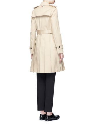 Back View - Click To Enlarge - Thom Browne - 'Mackintosh' pleated cotton trench coat