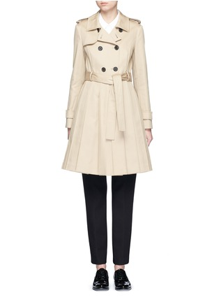 Main View - Click To Enlarge - Thom Browne - 'Mackintosh' pleated cotton trench coat