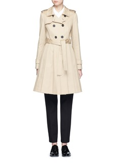 Thom Browne 'Mackintosh' pleated cotton trench coat