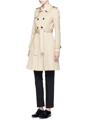 Figure View - Click To Enlarge - Thom Browne - 'Mackintosh' pleated cotton trench coat