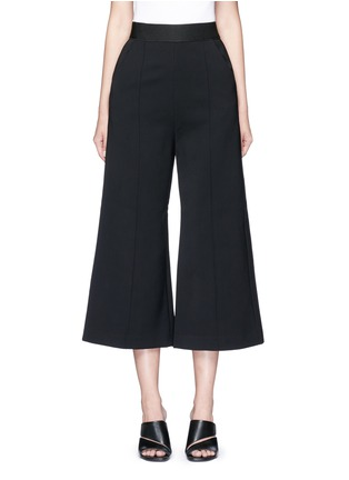 Main View - Click To Enlarge - self-portrait - 'Natasha' pintuck seam culottes