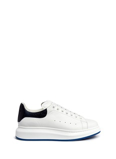 Alexander McQueen 'Larry' buffalo embossed heel leather sneaker