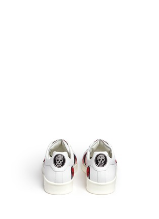Back View - Click To Enlarge - Alexander McQueen - 'Larry' skull patch appliqué leather sneakers