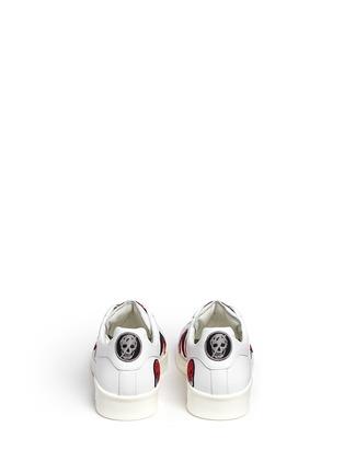Alexander McQueen-'Larry' skull patch appliqué leather sneakers