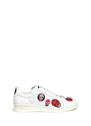 Main View - Click To Enlarge - Alexander McQueen - 'Larry' skull patch appliqué leather sneakers