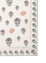'Skull Kisses' silk chiffon scarf