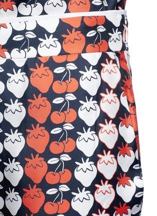 VICTORIA, VICTORIA BECKHAM-Strawberry cherry print silk twill pyjama pants