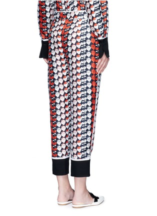 Back View - Click To Enlarge - VICTORIA, VICTORIA BECKHAM - Strawberry cherry print silk twill pyjama pants