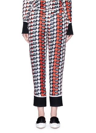 Main View - Click To Enlarge - VICTORIA, VICTORIA BECKHAM - Strawberry cherry print silk twill pyjama pants